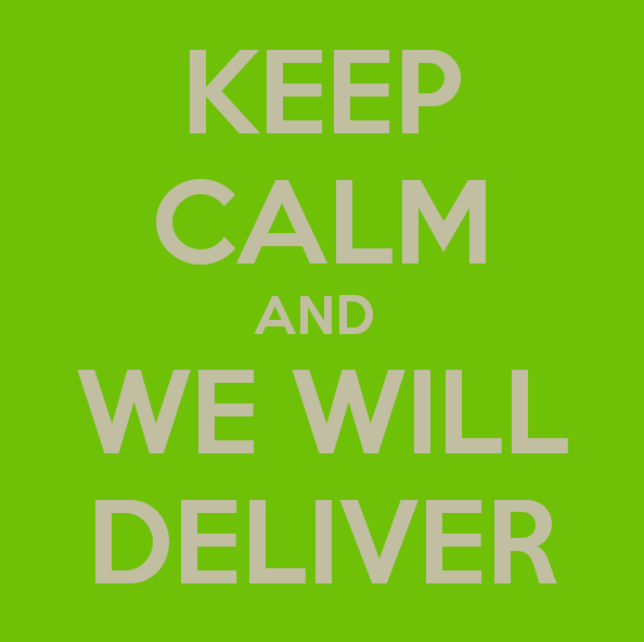 """We Will Deliver"""